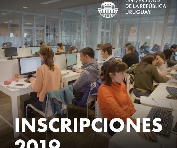 Inscripciones 2019 en la Udelar