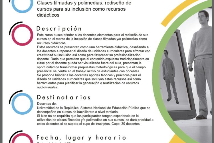 Curso DPD – Clases filmadas y polimedias: rediseño de cursos para su inclusión como recursos didácticos